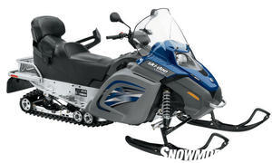 The Labrador blue and gray color combination adds to the luxurious feel of this rider/passenger friendly touring sled.