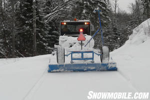 Groomers attend regularly to the trails in the Sudbury region.