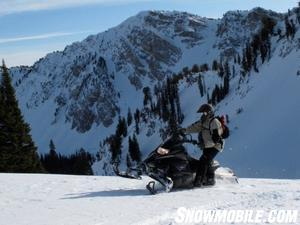 The Nytro MTX, though somewhat heavy due to its four-stroke three cylinder motor, is easy to handle when the hill sides are steep.