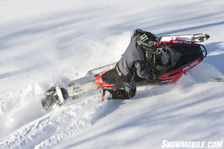 Polaris' Cleanfire 800 will have more than 40-pounds less to pull through the deep snow.