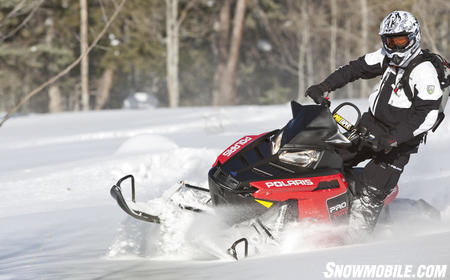 Adjustable ski stance and new rear suspension makes the 2011 800 Pro-RMK more flickable for powder running.