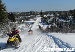 Many northern Ontario trails are on old logging roads.