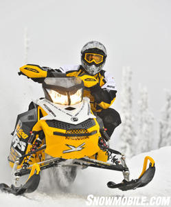 Serious power from the 800 E-TEC twin highlights Ski-Doo�s XRS racer-based sports model.