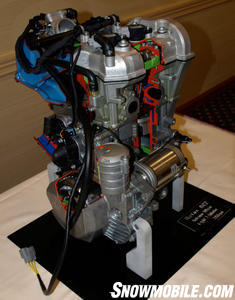 All-new 600cc 4-stroke will eventually replace the 550cc fan and carbureted 600 two-cycle.