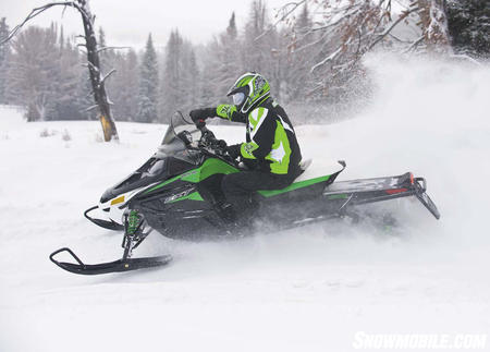 Adding the popular and powerful 800cc Twin to the EXT chassis will give on- and off-trail riders some serious snow capability.