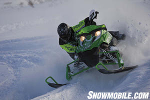 Minor changes were made to the Sno Pro 500 trail racer.