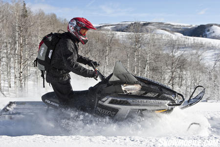 "The ""snow check"" early season 800 Pro RMK is available in silver."