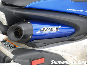 2011 Apex SE sports a new exhaust with revised under seat exit.