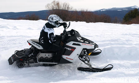 For 2011 Polaris adds to the Rush line with serious ditch pounders like this 800cc Pro-R and the Rush LX trail cruiser.