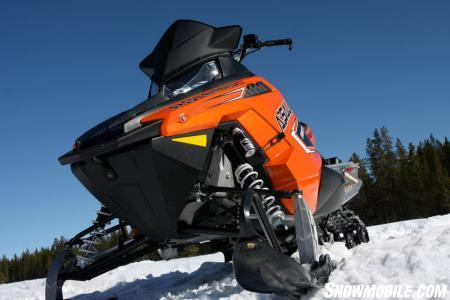The new 2011 Polaris Assault Switchback in optional orange.