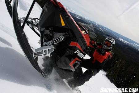 We climbed steep mountains higher on a stock 2011 RMK 800 than we could on a turbocharged 800 IQ.