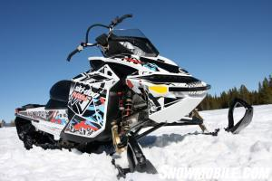 The Ski-Doo Freeride offers the owner 1 of 10 graphics packages to personalize his ride.
