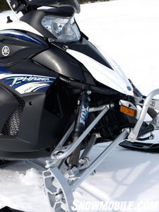 Yamaha�s Phazer RTX features premium Fox Float shocks to control 9.3-inches of travel.