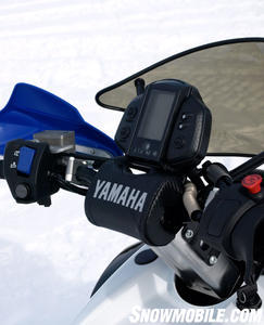 Speed is easy to read via Yamaha�s handlebar-mounted digital gauge.