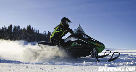 The fan-cooled Suzuki twin can power comfortably along trails all day long.