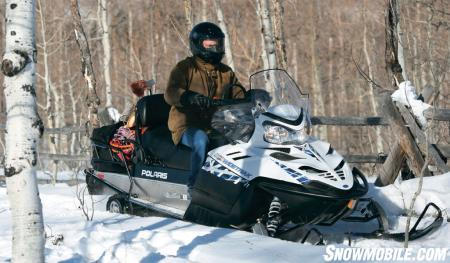 The torque-laden 750cc four-stroke is a smooth operator on or off trails.