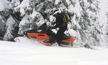 2011 Polaris 800 Switchback Assault side