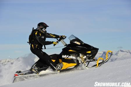 The Ski-Doo Summit SP with the long 163-inch PowderMax track is a proven climber.