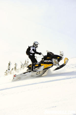 The combination of a powerful E-TEC twin and 16-inch wide footprint makes the 2012 Summit a top performer.