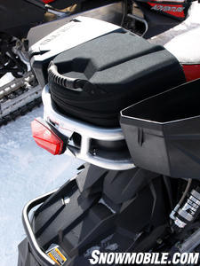 "Polaris brings ""Lock & Ride,"" an innovative cargo system to snowmobiling for 2012."