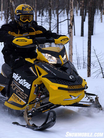 A major innovation in sleds came with Ski-Doo's REV and its rider-forward design.