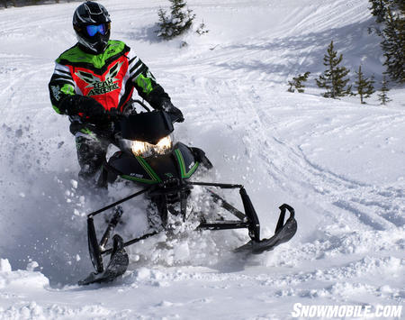 It may not look like it, but the modern 2012 Arctic Cat XF1100 owes a lot to Carl Eliason�s design concepts. Bassett Image.