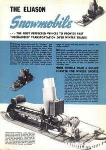 When Carl Eliason built his over-snow prototype he was establishing virtually all engineering concepts used in today's snowmobiles. Eliason Image