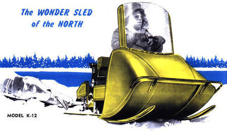 The model K-12 marked the end for the FWD/Eliason snowmobile line, but it provided a �how-to� guide for other manufacturers to follow. Eliason Image
