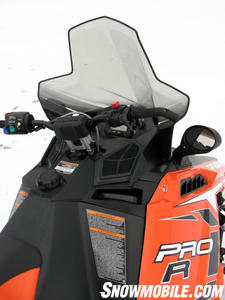 2012 Polaris 800 Switchback Pro-R console windshld