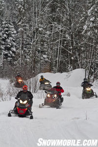 Fun Snowmobile Ride Ontario