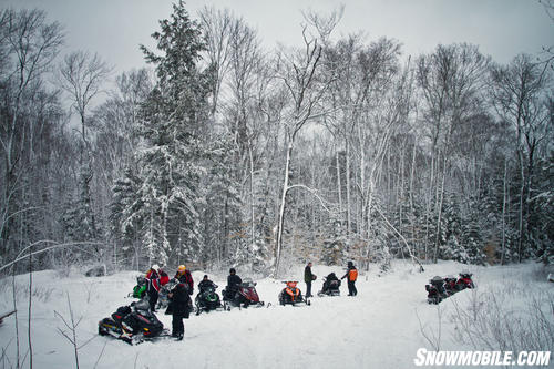 Group Snowmobile Ride