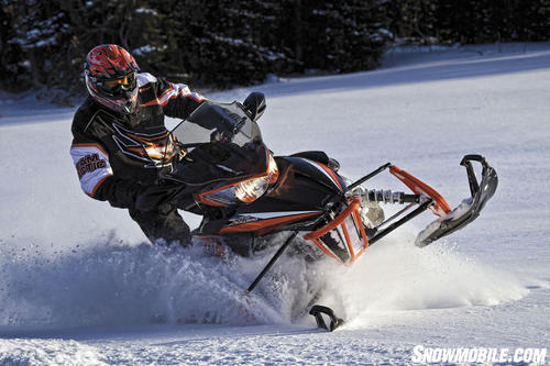 2013 Arctic Cat XF1100 Cross Tour Cornering