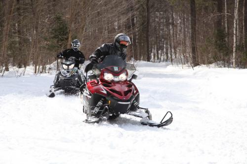 Snowmobile Riding in Bonfield