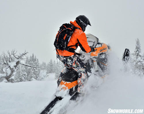 2013 Ski-Doo Summit X Powder Riding