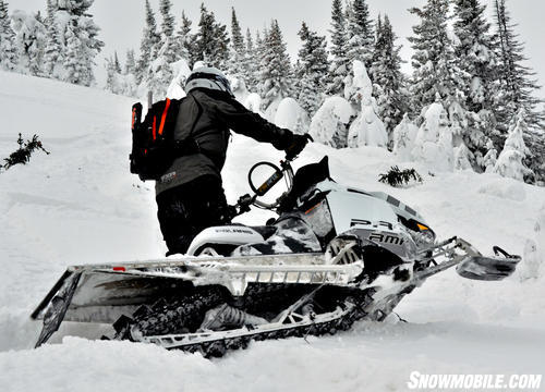 2013 Polaris 800 Pro-RMK White Sidehilling