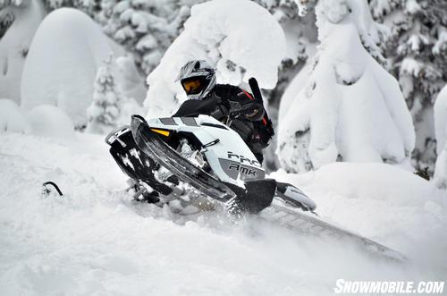 2013 Polaris 800 Pro-RMK White Uphill