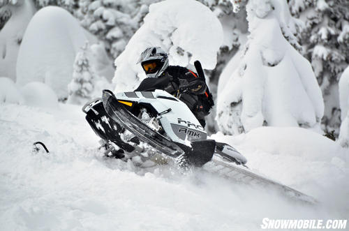 2013 Polaris 800 Pro-RMK White Uphill