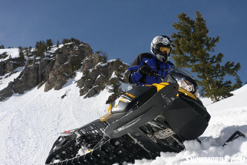 2013 Ski-Doo Summit Rolling on side