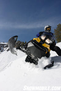 2013 Ski-Doo Summit wrong foot forward
