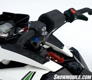 2013 Arctic Cat F800 Sno Pro RR handlebars