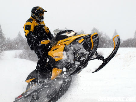 2013 Ski-Doo MXZ TNT 800 E-TEC tailstand closeup