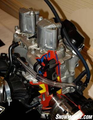 modern direct injection engine cutaway