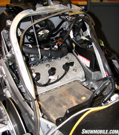Yamaha engine buried in engine bay