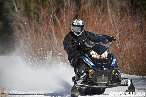 2013 Polaris 600 Rush Pro-R Cornering
