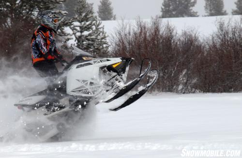 2013 Polaris 600 Switchback Grabbing Air