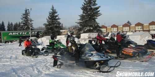Veterans Ready To Ride Snowmobiles