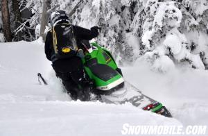 Arctic Cat M1100 Turbo HCR Action Rear
