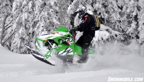 Arctic Cat M1100 Turbo HCR Action Right