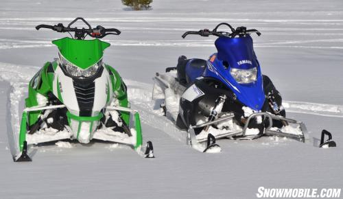 Arctic Cat M1100 Turbo HCR and Yamaha Nytro MTX Turbo Front