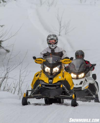 Follow The Leader Snowmobiling